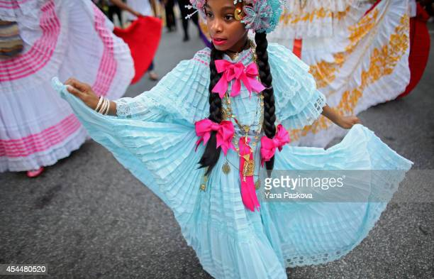 Revelers participate in the annual West Indian Day parade held on September 1 2014 in the Brooklyn borough of New York City The parade which draws a...