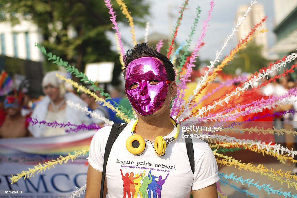 Revelers participate in the Manila Gay Pride March on December 8, 2012 in Makati, Philippines. Although frowned upon by the mainstream Catholic church, Filipino LGBTs are slowly gaining ground as a vibrant and vocal movement as they prepare to field their very own political party in next year's midterm elections for the first time. The Ang Ladlad party (Coming Out party) is set to become Asia's very first lesbian gay bisexual transexual political party.