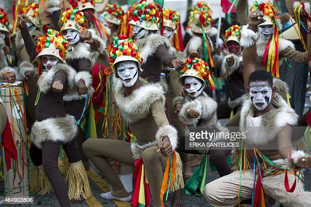 Revelers perform during a carnival parade in Santo Domingo on March 1 2015 AFP PHOTO / ERIKA SANTELICES
