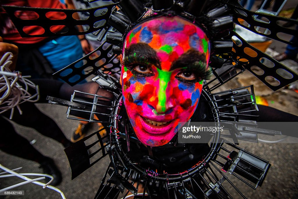Revelers take part in the 20th annual Gay Pride Parade in Sao Paulo, Brazil on May 29, 2015. Every year hundreds of thousands of people gather on Paulista Avenue in Sao Paulo for one of the largest Gay Parades in the world.
