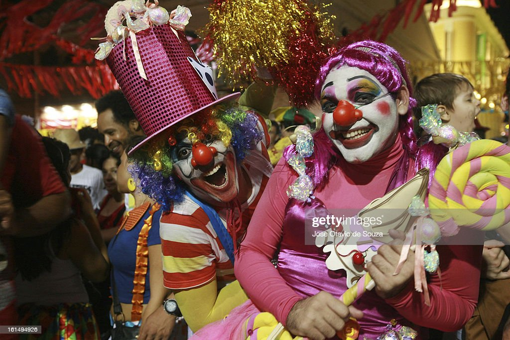 Revellers dance during Day 3 of Recife Carnival on February 11, 2013 in Recife, Brazil