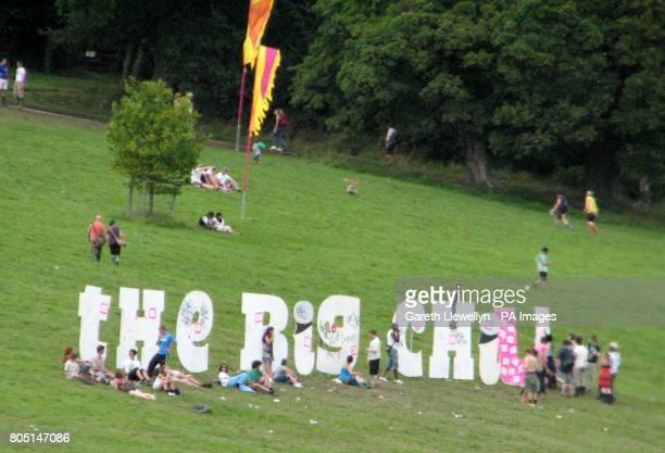 Revellers enjoying the sunshine at the Big Chill festival