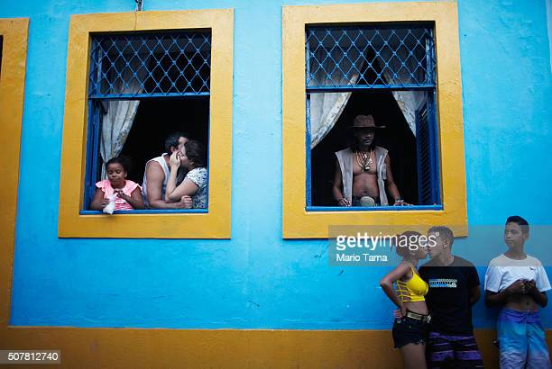 Revellers gather during preCarnival celebrations on January 31 2016 in Recife Pernambuco state Brazil Health officials believe as many as 100000...