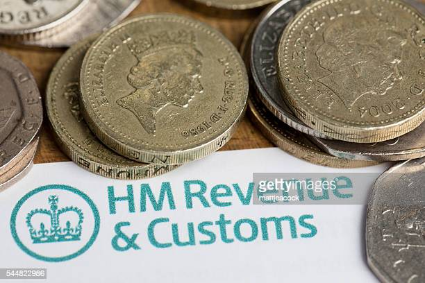 HM Revenue and customs forms and cash