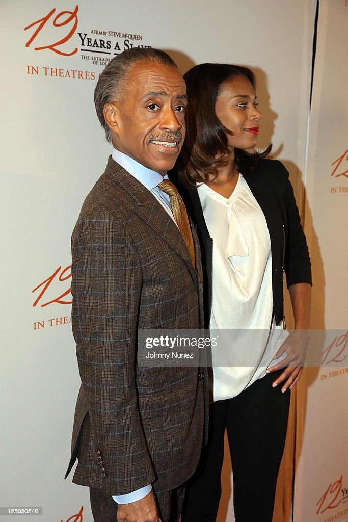 Reverend <a gi-track='captionPersonalityLinkClicked' href=/galleries/search?phrase=Al+Sharpton&family=editorial&specificpeople=202250 ng-click='$event.stopPropagation()'>Al Sharpton</a> and stylist Aisha McShaw attend the '12 Years A Slave' screening at AMC Empire 25 Theater on October 16, 2013 in New York City.