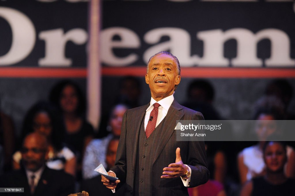 Reverend <a gi-track='captionPersonalityLinkClicked' href=/galleries/search?phrase=Al+Sharpton&family=editorial&specificpeople=202250 ng-click='$event.stopPropagation()'>Al Sharpton</a> attends 'Advancing The Dream: Live From The Apollo' Hosted By Reverend <a gi-track='captionPersonalityLinkClicked' href=/galleries/search?phrase=Al+Sharpton&family=editorial&specificpeople=202250 ng-click='$event.stopPropagation()'>Al Sharpton</a> at The Apollo Theater on September 6, 2013 in New York City.