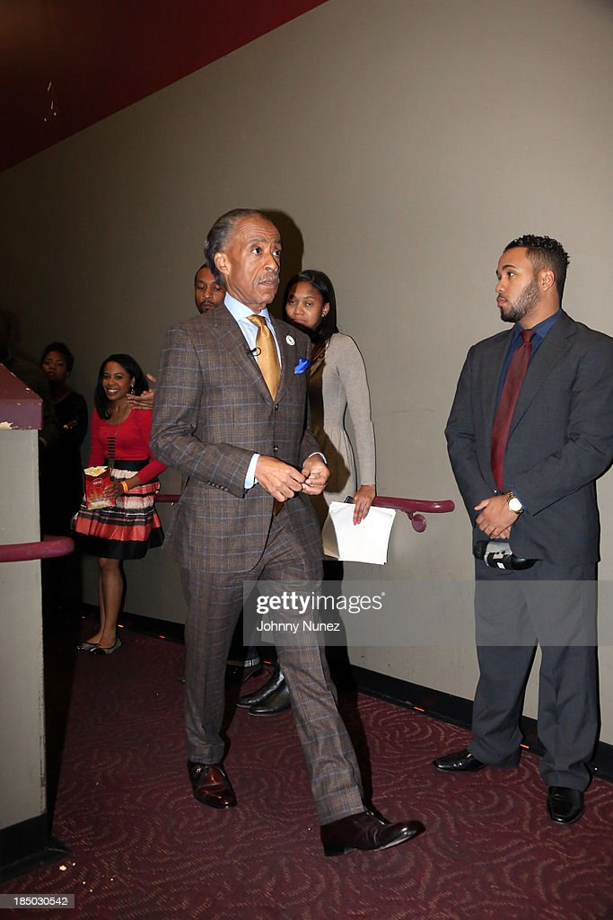 Reverend <a gi-track='captionPersonalityLinkClicked' href=/galleries/search?phrase=Al+Sharpton&family=editorial&specificpeople=202250 ng-click='$event.stopPropagation()'>Al Sharpton</a> attends the '12 Years A Slave' screening at AMC Empire 25 Theater on October 16, 2013 in New York City.