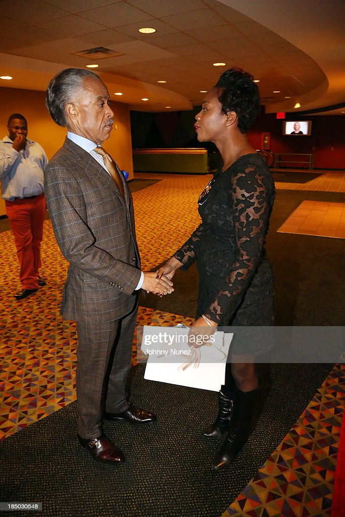 Reverend <a gi-track='captionPersonalityLinkClicked' href=/galleries/search?phrase=Al+Sharpton&family=editorial&specificpeople=202250 ng-click='$event.stopPropagation()'>Al Sharpton</a> (L) attends the '12 Years A Slave' screening at AMC Empire 25 Theater on October 16, 2013 in New York City.