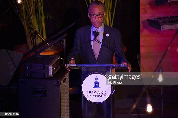 Reverend Al Sharpton of Civil Rights Leader and Radio Host speaks In the Blackburn Center Ballroom on the campus of Howard University in Washington...