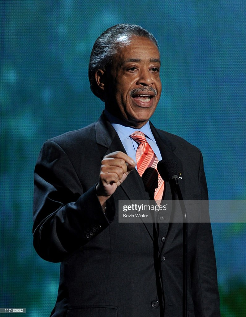 Reverend Al Sharpton speaks onstage during the BET Awards '11 held at the Shrine Auditorium on June 26, 2011 in Los Angeles, California.