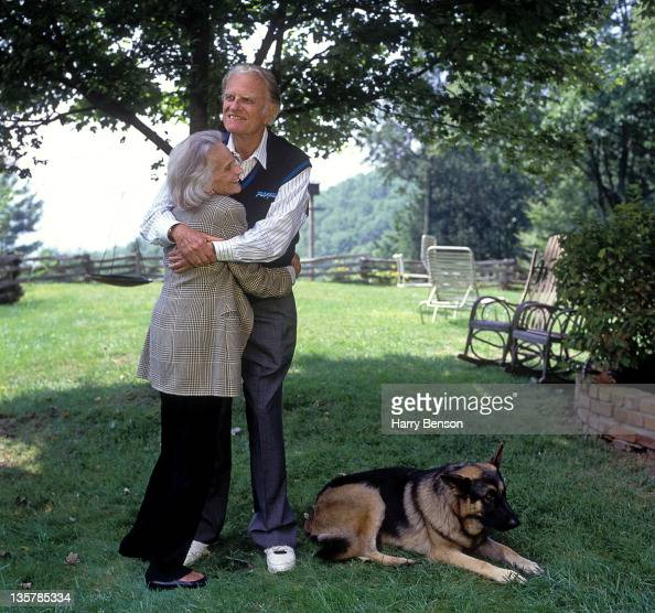 Reverend Billy Graham and wife Ruth Bell Graham are photographed for People Magazine in 1996 at home in Montreat North Carolina