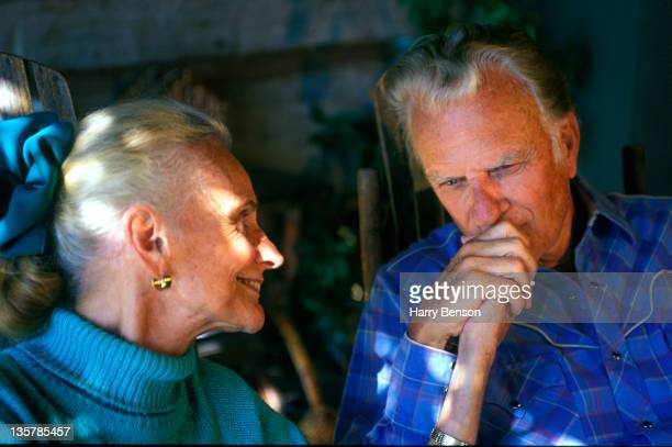 Reverend Billy Graham and wife Ruth Bell Graham are photographed for Life Magazine in 1994 at home in Montreat North Carolina