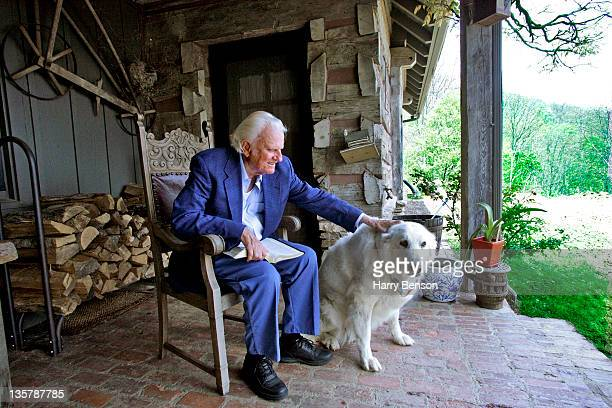 Reverend Billy Graham is photographed for Newsweek in 2005 at home in Montreat North Carolina