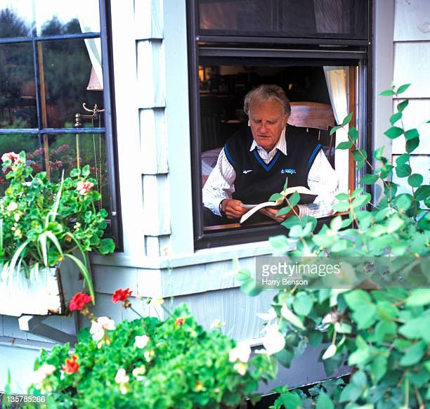 Reverend Billy Graham is photographed for People Magazine in 1996 at home in Montreat North Carolina