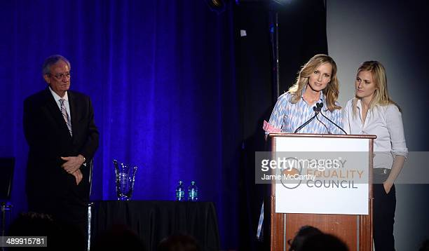 Reverend Dr C Welton Gaddy singer Chely Wright and Lauren BlitzerWright speak onstage at the Family Equality Council's 2014 Night at the Pier at Pier...