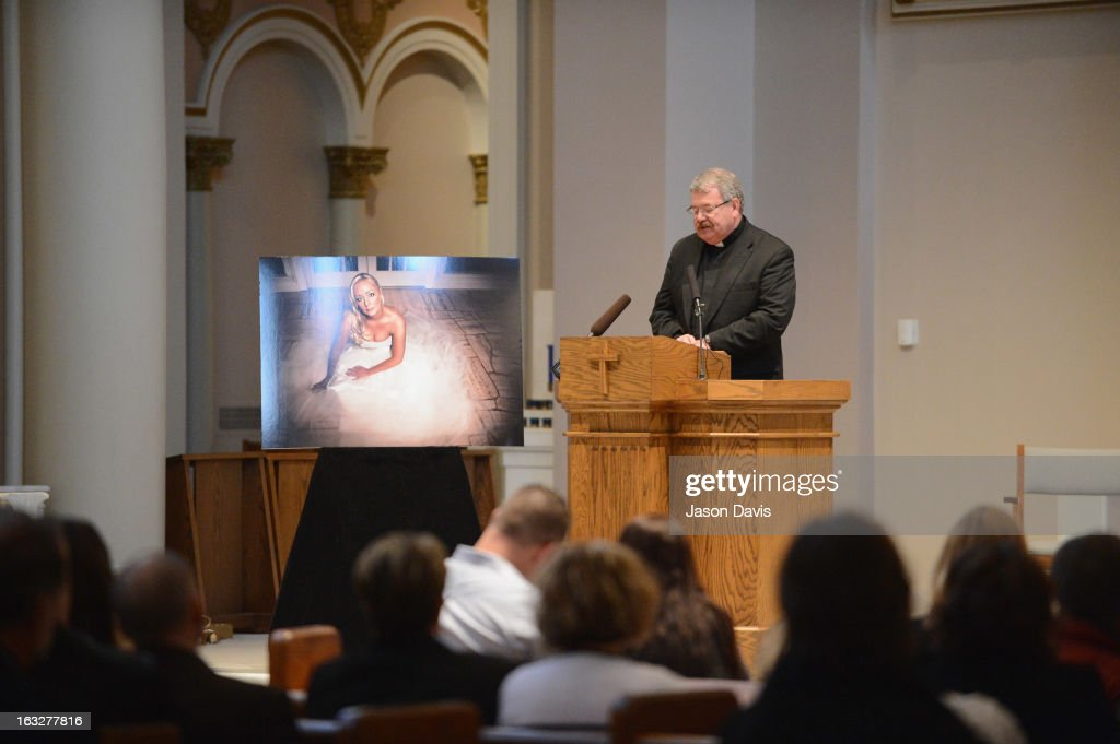 Reverend Edward F. Steiner speaks during the Mindy McCready Memorial Service at Cathedral of the Incarnation on March 6, 2013 in Nashville, Tennessee. McCready was found dead from an apparent suicide on February 17, 2013 at her home in Heber Springs, Arkansas.