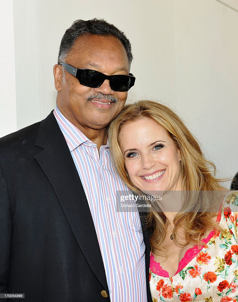 Reverend Jesse Jackson and actress Kelly Preston attend the 1st Annual Children Mending Hearts Style Sunday on June 9, 2013 in Beverly Hills, California.