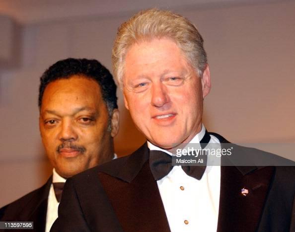 Reverend Jesse Jackson and former President Bill Clinton