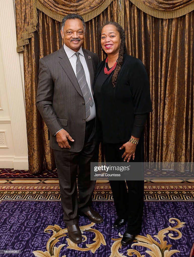Reverend Jesse Jackson and Malaak Shabazz attend The 16th Annual Wall Street Project Economic Summit - Day 1 at The Roosevelt Hotel on January 31, 2013 in New York City.