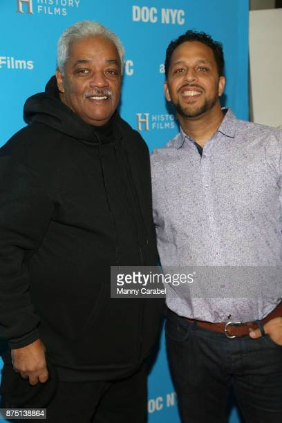 Reverend Jesse Jackson and Maynard Jackson III attend the 2017 DOC NYC World Premiere of 'Maynard' at IFC Center on November 16 2017 in New York City