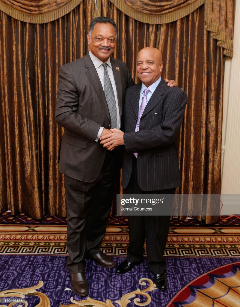 Reverend Jesse Jackson and record producer and founder of Motown Records Berry Gordy attend The 16th Annual Wall Street Project Economic Summit - Day 1 at The Roosevelt Hotel on January 31, 2013 in New York City.