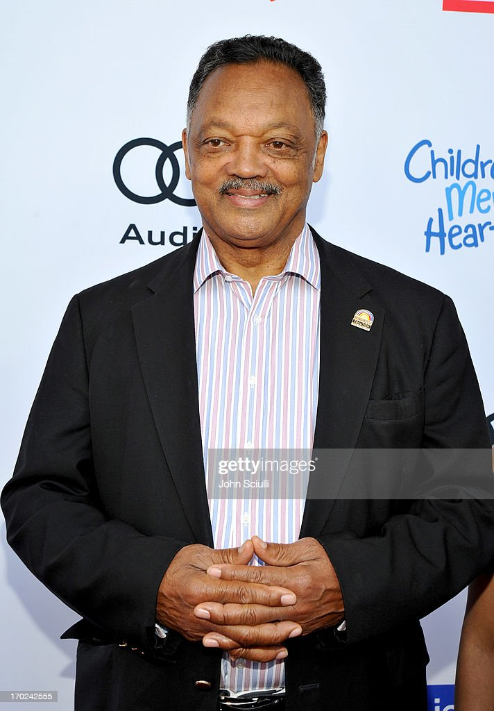 Reverend Jesse Jackson arrives at the 1st Annual Children Mending Hearts Style Sunday on June 9, 2013 in Beverly Hills, California.