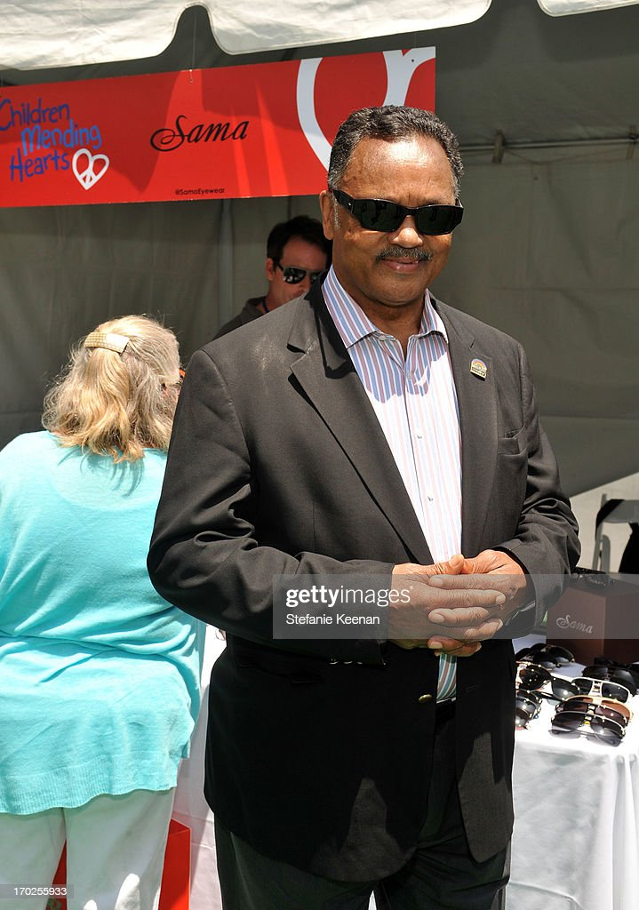 Reverend Jesse Jackson attends the 1st Annual Children Mending Hearts Style Sunday on June 9, 2013 in Beverly Hills, California.