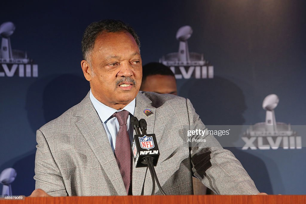 Reverend Jesse Jackson attends the Super Bowl Gospel Celebration Concert Press Conference at Super Bowl XLVIII Media Center, Sheraton Times Square on January 30, 2014 in New York City.