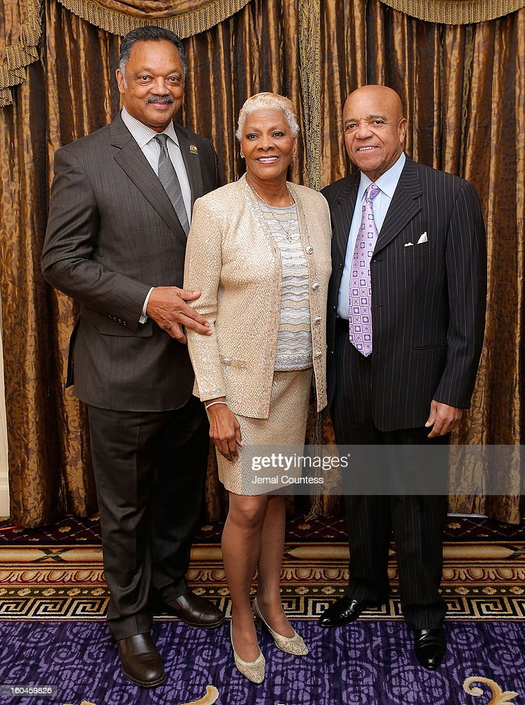 Reverend Jesse Jackson, singer <a gi-track='captionPersonalityLinkClicked' href=/galleries/search?phrase=Dionne+Warwick&family=editorial&specificpeople=213111 ng-click='$event.stopPropagation()'>Dionne Warwick</a> and record producer and founder of Motown Records Berry Gordy attend The 16th Annual Wall Street Project Economic Summit - Day 1 at The Roosevelt Hotel on January 31, 2013 in New York City.