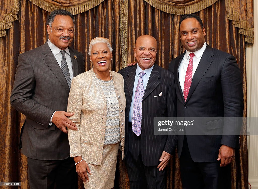 Reverend Jesse Jackson, singer <a gi-track='captionPersonalityLinkClicked' href=/galleries/search?phrase=Dionne+Warwick&family=editorial&specificpeople=213111 ng-click='$event.stopPropagation()'>Dionne Warwick</a>, record producer and founder of Motown Records Berry Gordy and <a gi-track='captionPersonalityLinkClicked' href=/galleries/search?phrase=Jonathan+Jackson&family=editorial&specificpeople=224950 ng-click='$event.stopPropagation()'>Jonathan Jackson</a> attend The 16th Annual Wall Street Project Economic Summit - Day 1 at The Roosevelt Hotel on January 31, 2013 in New York City.