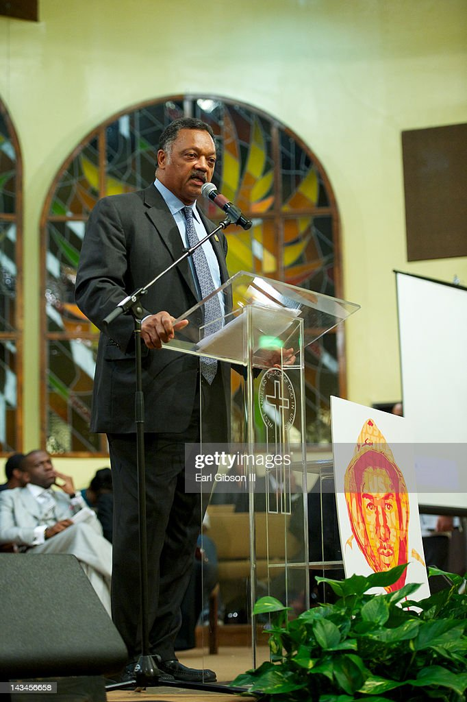 Reverend Jesse Jackson speaks at the NAACP Trayvon Martin Rally on April 26, 2012 in Los Angeles, California.