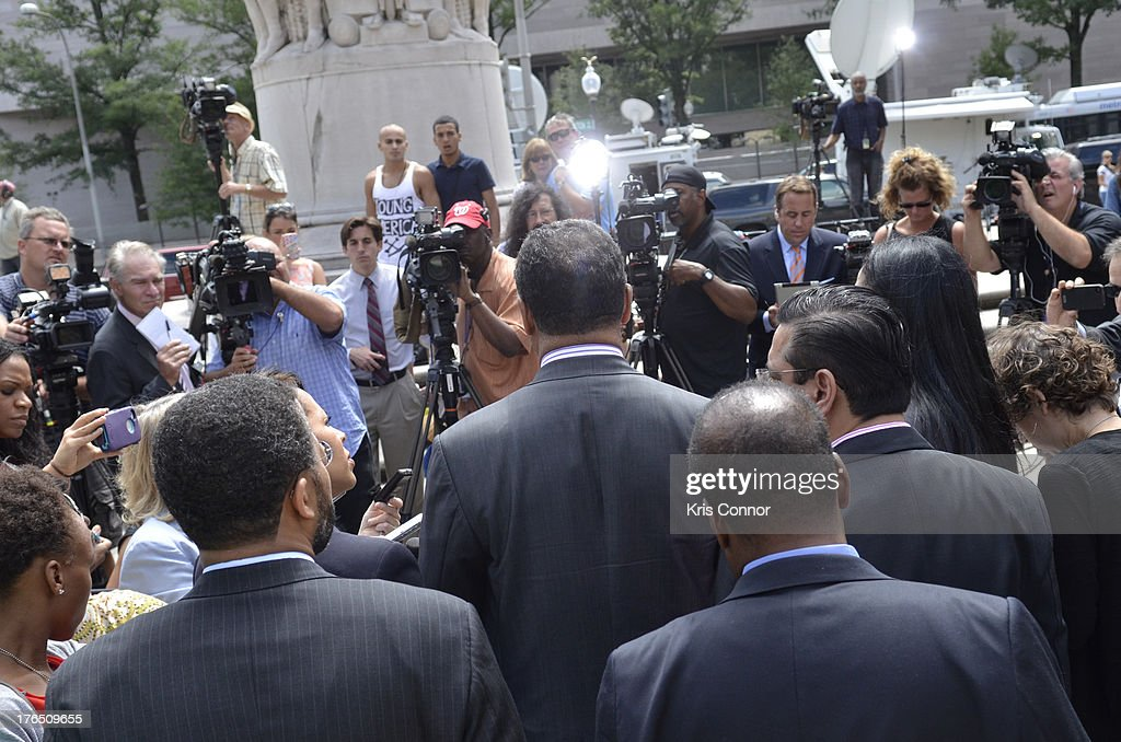 Reverend Jesse Jackson speaks outside the E. Barrett Prettyman United States Court House after his son former Rep. Jesse Jackson Jr. and his wife Sandi Jackson were sentenced for using $750,000 in campaign money to pay for living expense, clothing and luxury items on August 14, 2013 in Washington, DC. The former Illinois congressman was sentenced to 30 months in prision and his wife received a 12-month prison term.