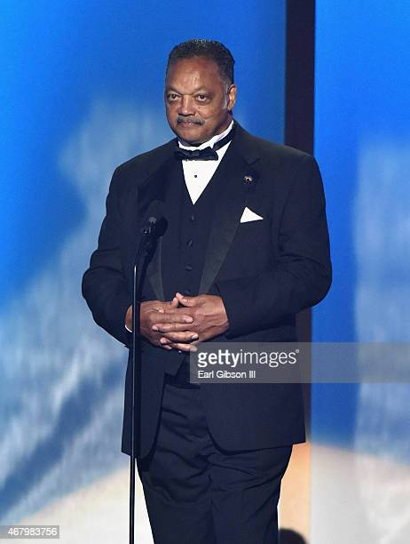 Reverend Jesse Jackson Sr speaks onstage during the 30th annual Stellar Gospel Music Awards at the Orleans Arena on March 28 2015 in Las Vegas Nevada