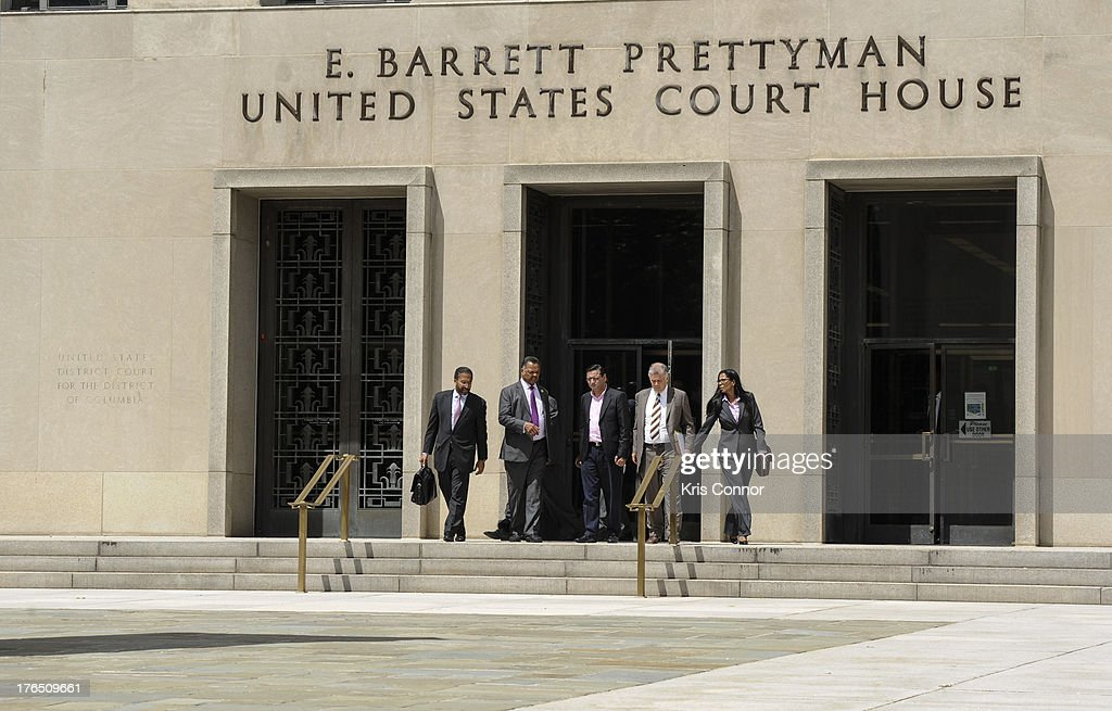 Reverend Jesse Jackson walks to a press conference outside the E. Barrett Prettyman United States Court House after his son former Rep. Jesse Jackson Jr. and his wife Sandi Jackson were sentenced for using $750,000 in campaign money to pay for living expense, clothing and luxury items on August 14, 2013 in Washington, DC. The former Illinois congressman was sentenced to 30 months in prision and his wife received a 12-month prison term.