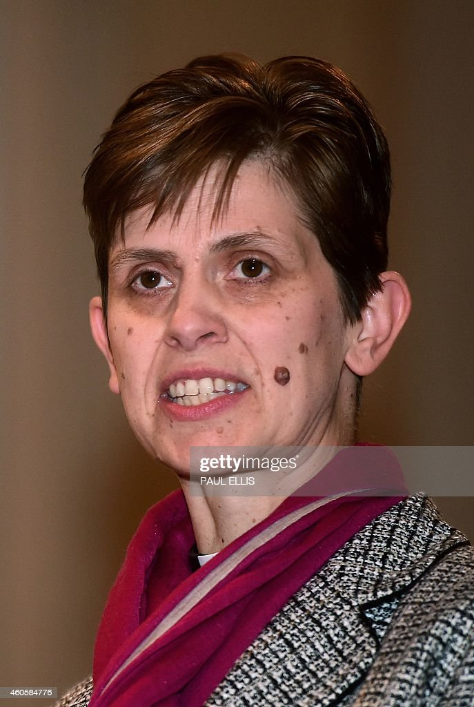 Reverend Libby Lane speaks following the announcement of naming her first woman bishop by The Church of England after a historic change in its rules...