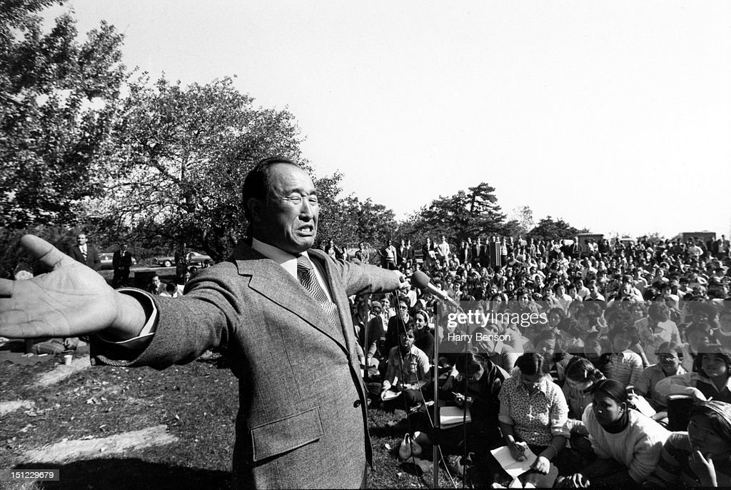 Reverend <a gi-track='captionPersonalityLinkClicked' href=/galleries/search?phrase=Sun+Myung+Moon&family=editorial&specificpeople=773635 ng-click='$event.stopPropagation()'>Sun Myung Moon</a> is photographed preaching for People Magazine in 1975 in Tarrytown, New York.
