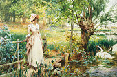 A Reverie by the River by Alfred Augustus Glendening II