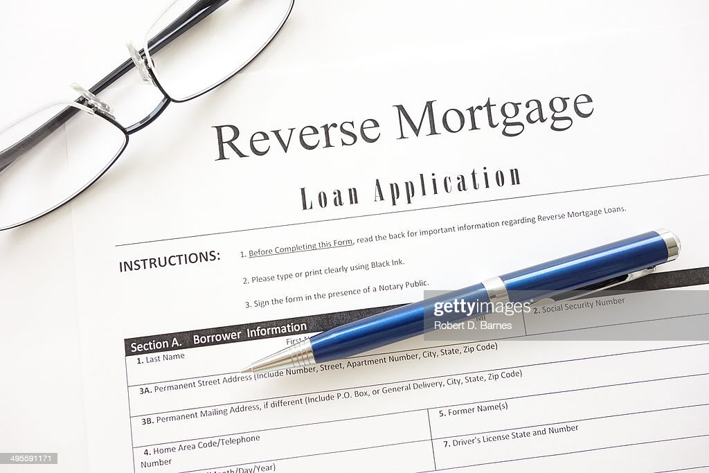 Reverse Mortgage Application : Stock Photo