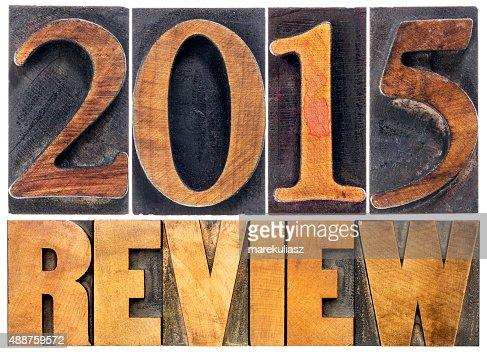 Revisión de 2015 año la tipografía : Foto de stock