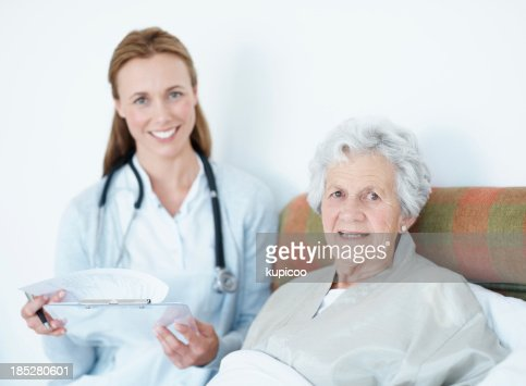 Reviewing her progress - Senior Care : Stock Photo