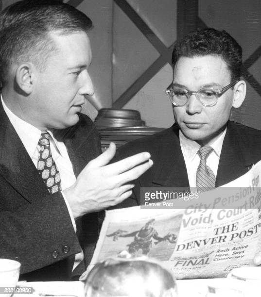 Revill J Fox executive of Kostka Bakewell and Fox Inc advertising agency handling Herbert A Philbrick in his personal appearance in Colo for Coors...