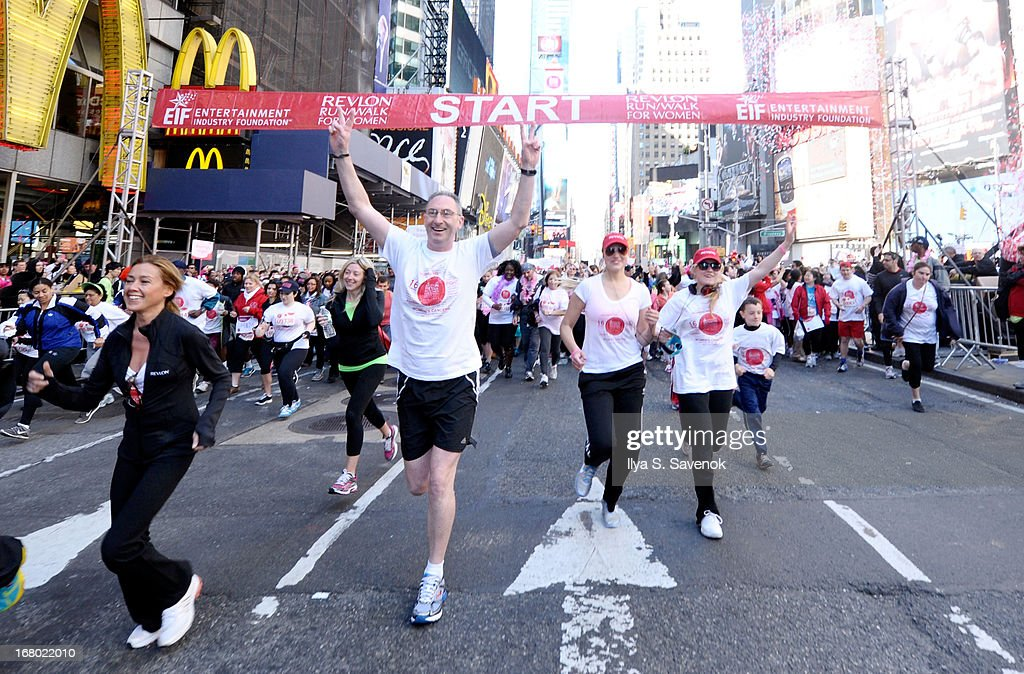 Revlon CEO, Alan Ennis running in the 16th Annual EIF Revlon Run Walk For Women on May 4, 2013 in New York City.
