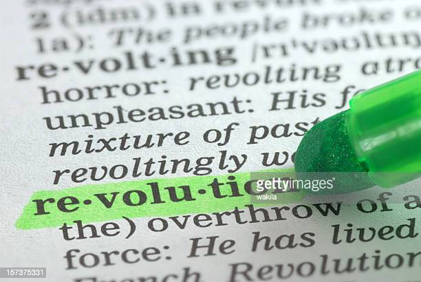revolution highlighted in dictionary