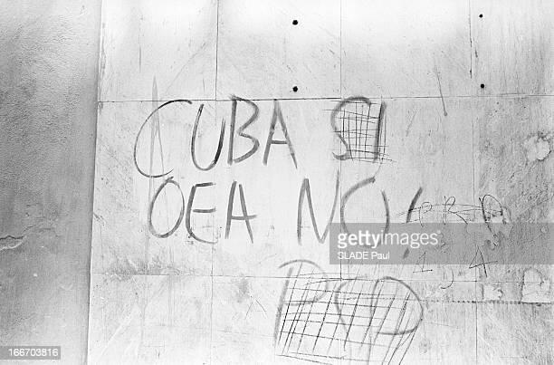 Revolution In Santo Domingo En République dominicaine à SaintDomingue 47 mai 1965 lors de la révolution provoquant de sanglants combats entre juntes...