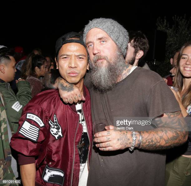Revolve Founder Michael Mente and Madeworn founder Blaine Halvorson attend Madeworn x Roc96 PopUp Event at on May 31 2017 in Los Angeles California