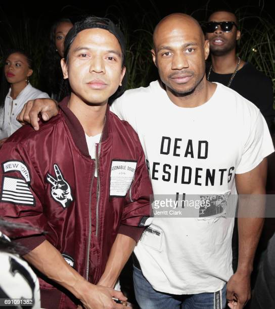 Revolve Founder Michael Mente and Roc96 Founder Kareem 'Biggs' Burke attend Madeworn x Roc96 PopUp Event at on May 31 2017 in Los Angeles California