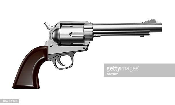 Revólver Aislado en blanco