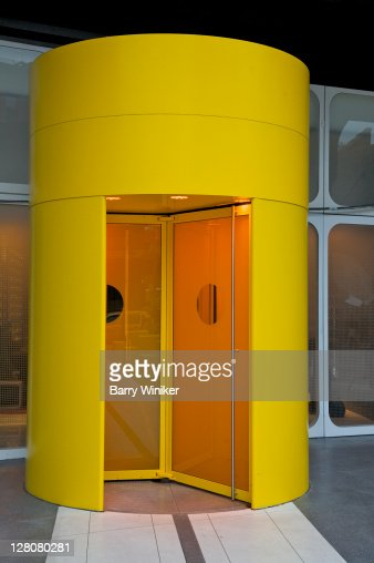 Revolving door entrance to lobby of the Standard Hotel in the Meatpacking District, New York, NY, U.S.A. : Stock Photo