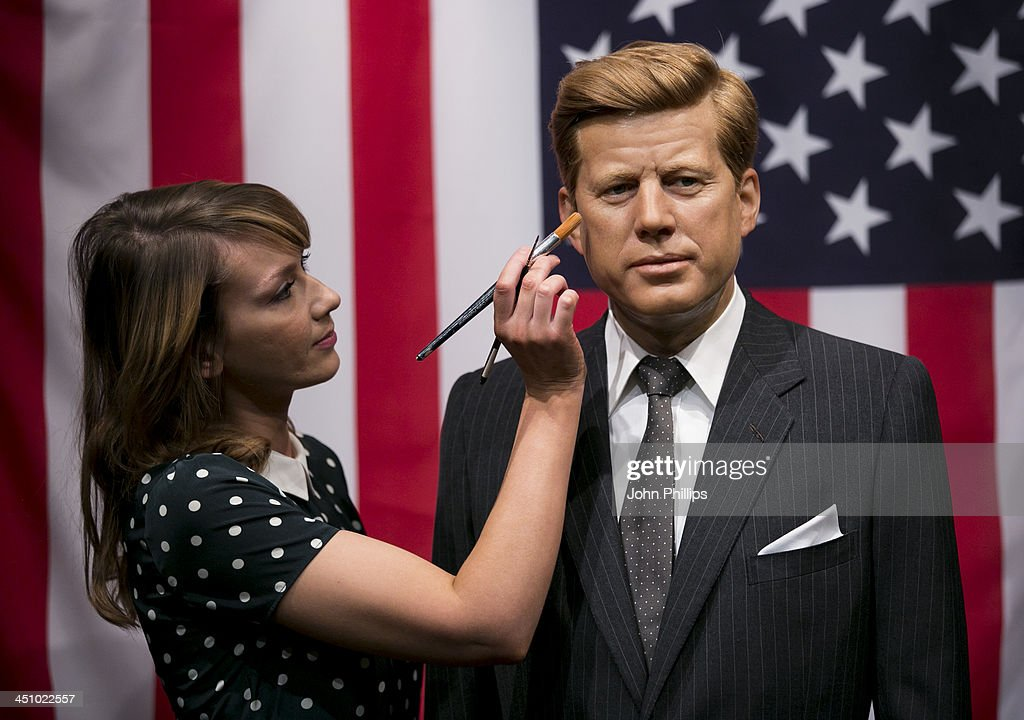 A reworked waxwork of President John F. Kennedy is unveiled at Madame Tussauds to mark the 50th anniversary of his assassination, on November 21, 2013 in London, England.
