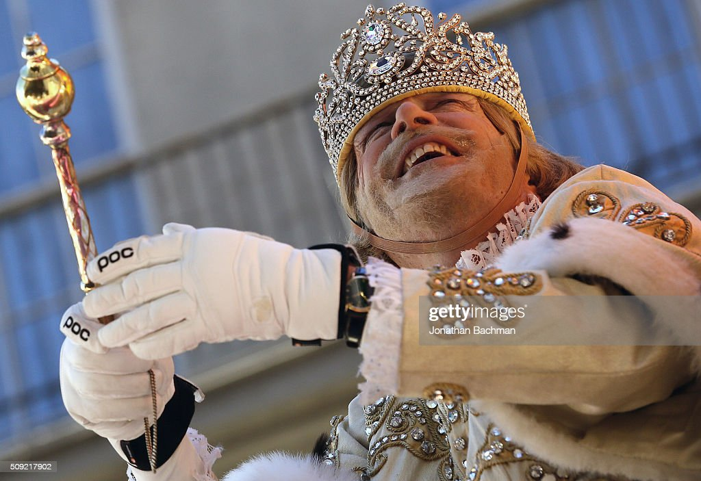 Rex, King of Carnival, Michael W. Kearney, toasts his queen during Mardi Gras day on February 9, 2016 in New Orleans, Louisiana. Fat Tuesday, or Mardi Gras in French, is a celebration traditionally held before the observance of Ash Wednesday and the beginning of the Christian Lenten season.